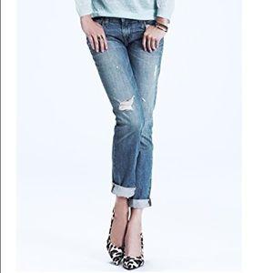 Jbrand distressed boyfriend jeans